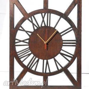 Cichy, drewniany zegar, wenge, drewniany, bezgłośny, cichy, prostokątny