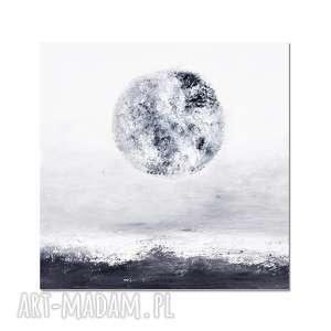 obrazy la luna, abstrakcja, nowoczesny obraz ręcznie malowany