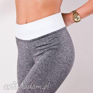 szare legginsy damskie modne spodnie rurki wysoki stan, legginsy, fajne, sportowe