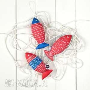 dekoracje ryba czerwono-niebieska, zestaw 3 ryb, ryby, śródziemnomorskie