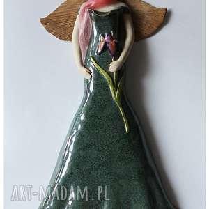 hand-made ceramika anioł secesyjny