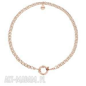 sotho masywny łańcuch z ozdobnym zapięciem z różowego złota