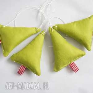 puchate choinki - zielone vairatka handmade - boże narodzenie, ozdoby choinkowe