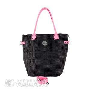 torba worek pocket tukan #plecionka czarna2, torba, worek, plecionka, czarna, damska