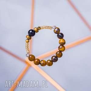 oryginalny prezent, w hand works whw high ring - wild tiger, pierścionki, kwarc