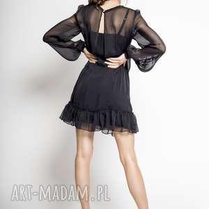 KALLISTO - KLASYCZNA CZARNA JEDWABNA SUKIENKA, sukienka-klasyczna, sukienka-czarna