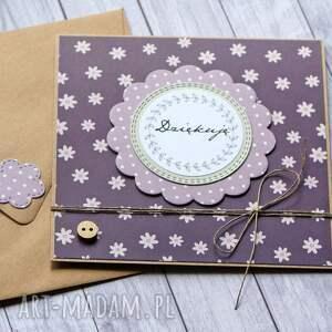 hand made kartki dziękuję: podziękowanie: kartka handmade