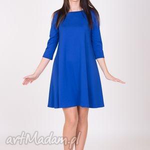 7 - sukienka szafirowa - sukienka, sukienki, dzianina