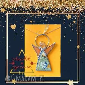 Prezent! Kartka na życzenia 3d z porcelanowym aniołkiem