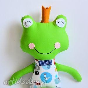 żabka - książę w motywy morskie, żabka, książę, chłopczyk, statek, maskotka