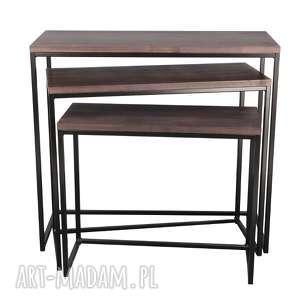 stoły konsola giewont m-xl, loft, scandi, drewno, konsola, bauhaus