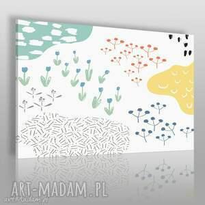 obraz na płótnie - natura stawy 120x80 cm 62005, natura, rośliny, wzory, kształty
