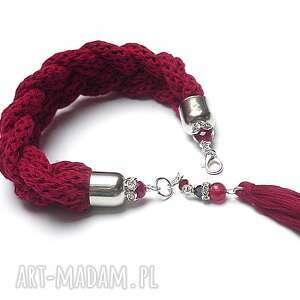 ki ka pracownia /hygge/ carmine /13-11-17/bransoletka, hygge, warkocz, sznurki