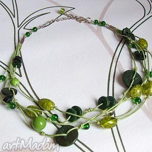 grasz w zielone - naszyjnik, korale, zielony