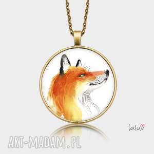 medalion okrągły lisek - prezent, lisek, rudy, cwaniak, spryciarz, las