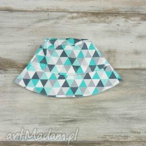 kapelusz dla dziecka trójkąty - szare dla dziecka, chłopca