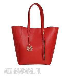 torebki duża torba klasyczna 2w1 intensywna czerwień, manzana, duza, torebka