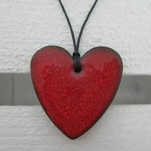 wisiorki ceramiczny wisiorek serduszko, serce, ceramiczne, wisor, ceramiczny