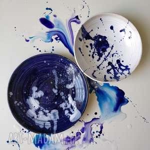 ceramika zestaw dwoch talerzy ceramicznych, ceramika, tależe, dekoracje