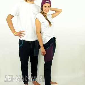 spodnie twins granatove męskie i damskie - baggy, zestaw, komplet, dres, dresowe