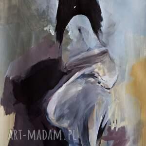 galeria alina louka woman 100x70, obraz do salonu, kobieta w sztuce, pastelowy