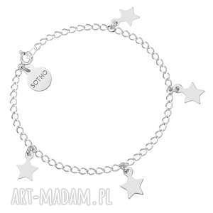 hand made bransoletki srebrna bransoletka z gwiazdkami