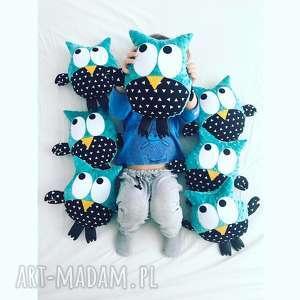 ręcznie robione zabawki sowa przytulanka gustaw, wzór remix