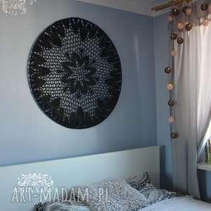 dekoracje black mandala, łapacz snów
