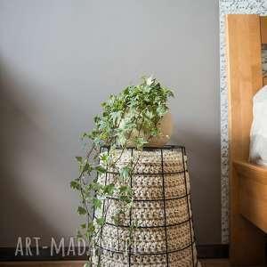 kosz multifunkcyjny handmade, rękodzieło, sznurek, szydełko, dekoracja, eco