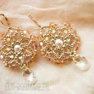 Kolczyki - perły, swarowski, kolczyki, swarovski, kryształki, bigle