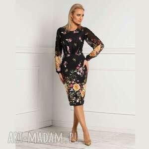 sukienki sukienka dorin midi aronnia, ołówkowa sukienka, dopasowana