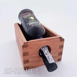 drewniany stojak na wino, stojak, drewno, drewniany, skandynawski