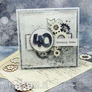 Męska kartka urodzinowa w pudełku 1 kartki papierowa p imieniny