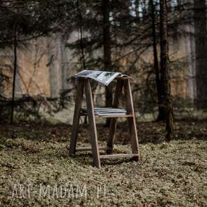mała drabinka skandynawska / stołek rustic, skandynawski, vintage, drewniany