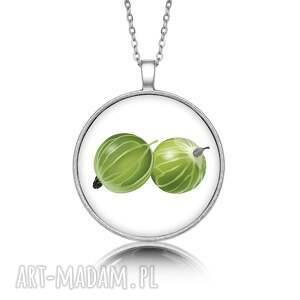 medalion okrągły z grafiką agrest, prezent, upominek, oryginalny, elegancki
