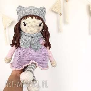 hand-made lalki duża szydełkowa lalka
