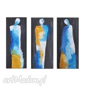 the visitors 2, nowoczesny obraz ręcznie malowany