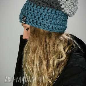 Czapka triquence 18 - niebieska czapki laczapakabra zimowa