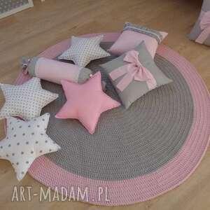 dywan pink rainbow- zamówienie specjalne, dywan, chodnik, dywanik, handmade, bawełna