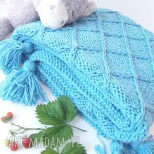 kocyk amiś blue, dla alergika, specjalne włokna, amicor, baby yarn, lekko