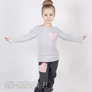 ubranka bluza db03 clover, serce, bawełniana, wygodna, modna dla dziecka
