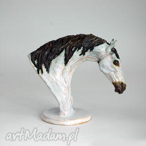 ceramiczna figurka konia, recznie robiona, unikatowa, koń, figurka, rzeźba