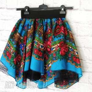 Spódnica damska z tiulem folkowa góralska cleo, spódnica, góralska, folk,