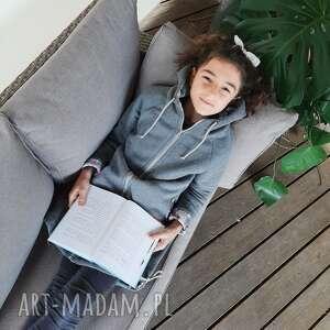 handmade długa bluza dziecięca - pastele