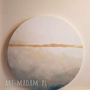 Abstrakcja-obraz akrylowy -średnica 40 cm paulina lebida obraz,