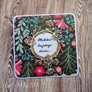 handmade scrapbooking kartki kwiecista miłość