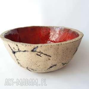 ceramika misa ceramiczna, misa, miska, ceramika, czerwona, prezent