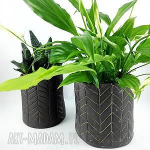 handmade ceramika komplet doniczek ceramicznych