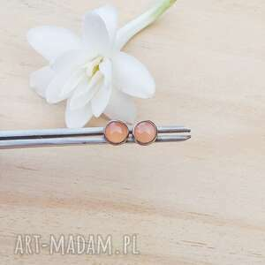 Słoneczne drobinki - kolczyki jewelsbykt srebrne kolczyki