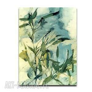 renata bulkszas obraz na płótnie melodia wieczoru 60x90, liście, z liśćmi